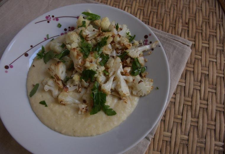 polenta ultra cremosa com couve flor 1