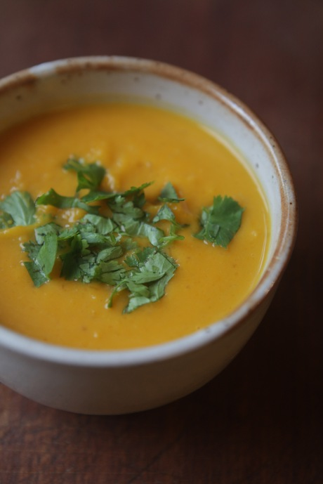 sopa jerimum gengibre e coco