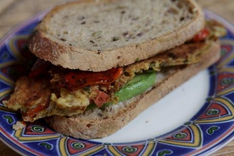 sanduiche omelete veg